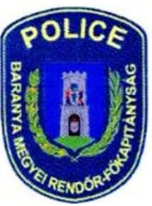 Baranya Megyei Rendőr Főkapitányság támogató levele